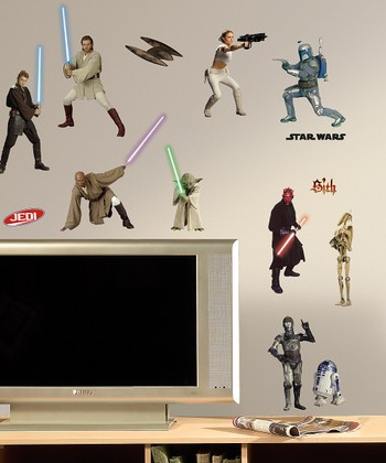 Star Wars Episodes One-Three Peel & Stick Wall Decals