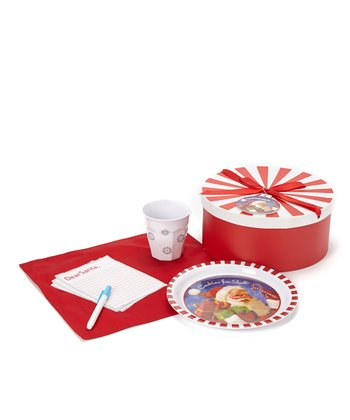 Candy Cane Santa Milk & Cookies Melamine Set