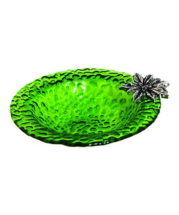 Pretty Poinsettia Dip Bowl & Spreader