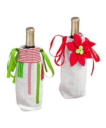 Crafted Christmas Bottle Bag Set