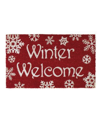 Winter Snowflakes Doormat
