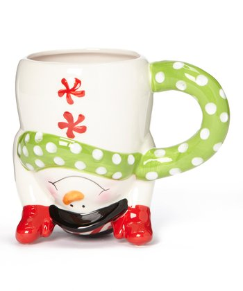 Holiday Upside-Down Snowman Mug