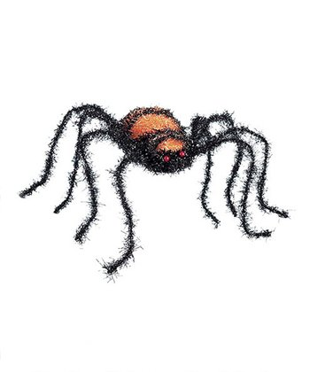 Black & Orange Sparkly Spider