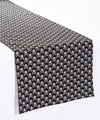 Black & White Crossbones Table Runner