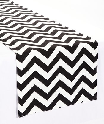 Black & White Zigzag Table Runner