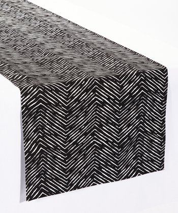 Black & White Cameron Table Runner