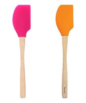 Fuchsia & Orange Peel Spatula Set
