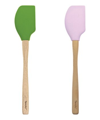 Lime & Lilac Spatula Set