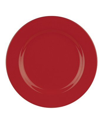 Red Dinner Plate - Set of Four