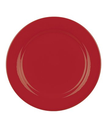 Red Salad Plate - Set of Four