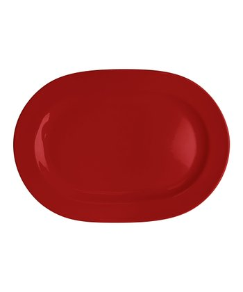 Red Oval Platter - Set of Two