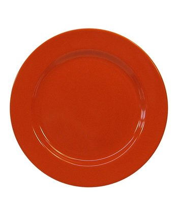 Orange Salad Plate - Set of Four