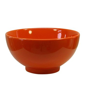 Orange Soup & Cereal Bowl - Set of Four