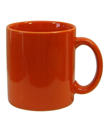 Orange Mug - Set of Four