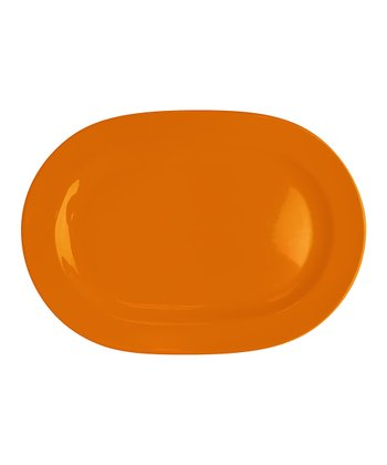 Orange Oval Platter - Set of Two