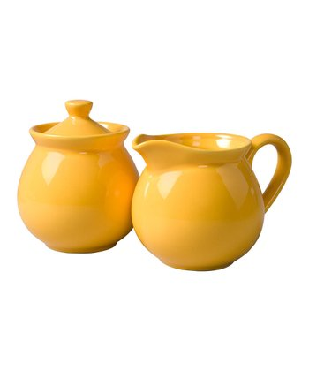 Buttercup Creamer & Sugar Container Set