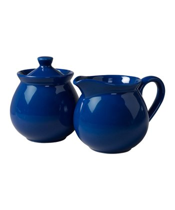 Royal Blue Creamer & Sugar Container Set