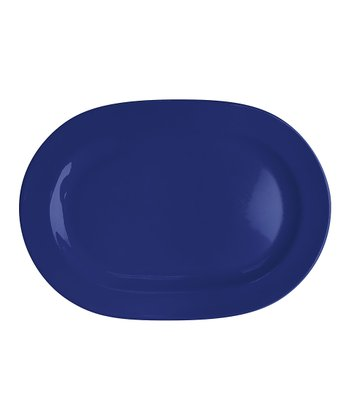 Royal Blue Oval Platter - Set of Two