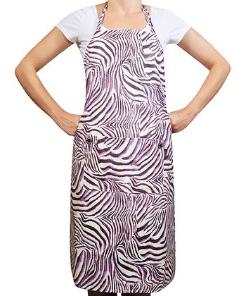 Purple Zebra Apron - Adults