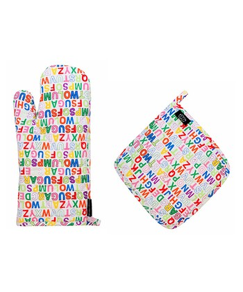 Alphabet Oven Mitt Oven Mitt & Pot Holder