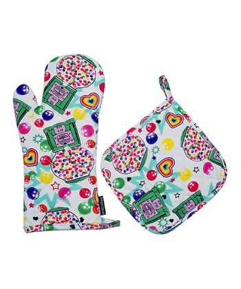 Gumballs Oven Mitt & Pot Holder