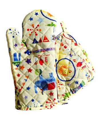 Circus Oven Mitt & Pot Holder