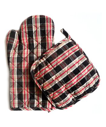 Man Plaid Oven Mitt & Pot Holder