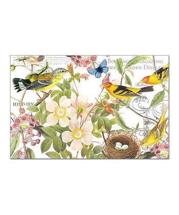Botanical Bird Paper Place Mat - Set of 36