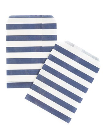 Blue Stripe Treat Bag - Set of 40