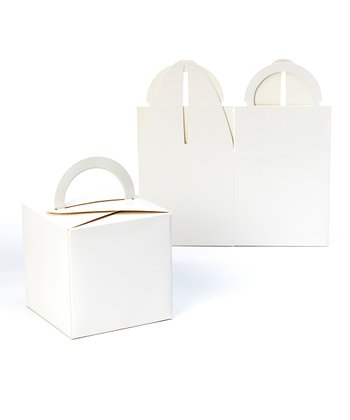 White Take-Out Box - Set of 10