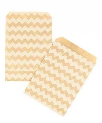 Zigzag Kraft Bag - Set of 40