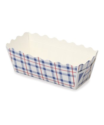 Blue Plaid Mini Loaf Pan - Set of 12