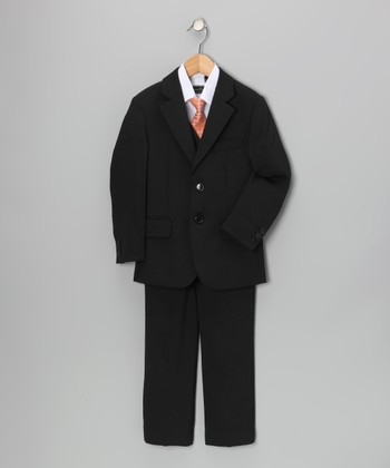 True Black Five-Piece Suit Set - Toddler & Boys