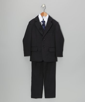 Navy Five-Piece Suit Set - Toddler & Boys