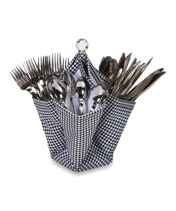 Black & White Decka Utensil Caddy