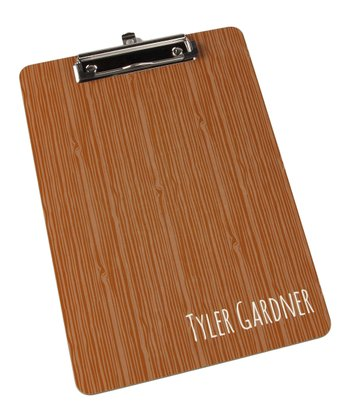Brown Personalized Clipboard