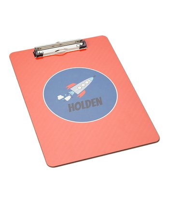 Red Rocket Personalized Clipboard