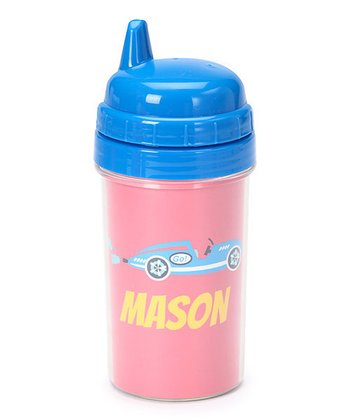 Red Race Car Personalized Sippy Cup