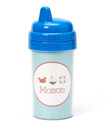 Blue Nautical Personalized Sippy Cup