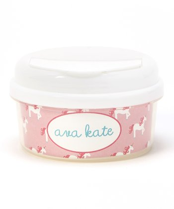 Pink Unicorn Personalized Snack Container