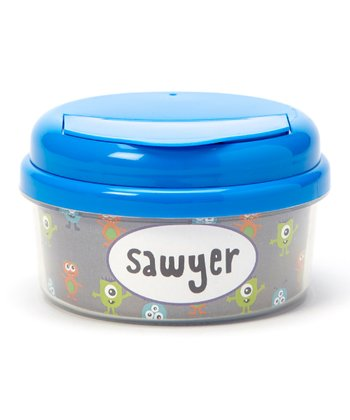 Blue Monster Personalized Snack Container