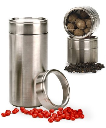 Stainless Steel Clear Top Can - Set of Two