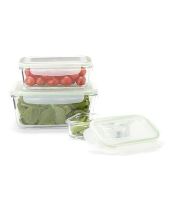 Snap & Seal Rectangular Three-Piece Nested set