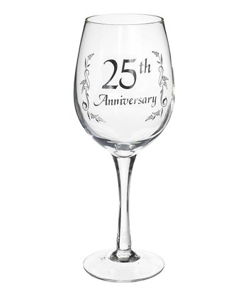 '25th Anniversary' Wine Glass