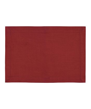Red Rustic Place Mat - Set of Four