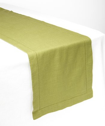 Olive Rustic Table Runner