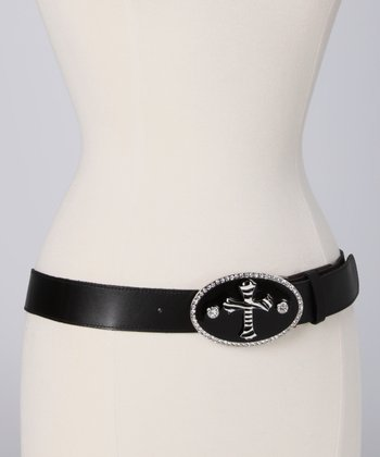Black Zebra Cross Belt