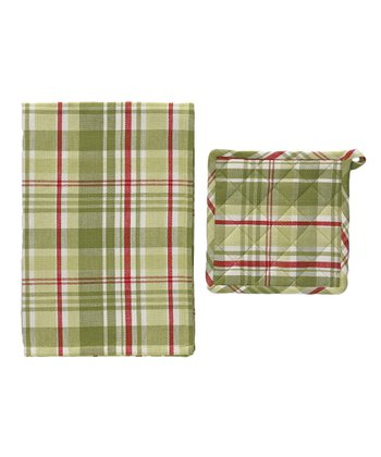 Winter Frost Pot Holder & Dish Towel Set