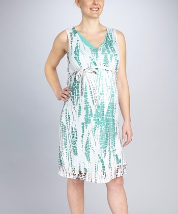 Seafoam Maternity Burnout Dress