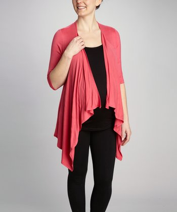 Coral Layered Maternity & Nursing Top